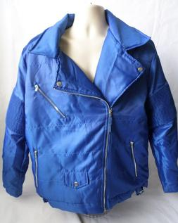 REBEL MINDS 2XL Mens Blue Motorcycle Style Jacket Front Zip