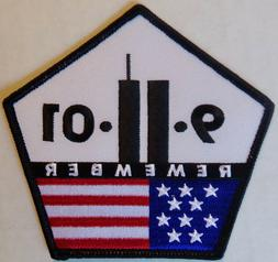 9 11 01 REMEMBER MOTORCYCLE BIKER JACKET PATCH - AMERICAN VE