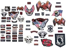 PATCH SET Assorted 20pc Embroidered Badge Motorcycle Biker V