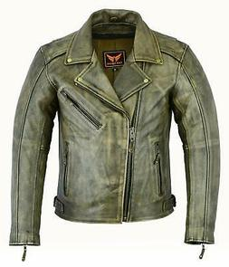 a and h apparel mens leather motorcycle