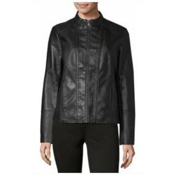 a.n.a Motorcycle Jacket Womens Black Faux Leather Size Large