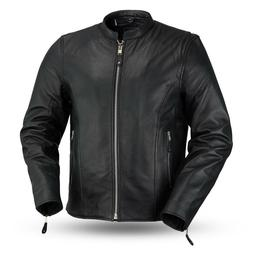 Ace Men Motorcycle Leather Jacket By First Manufacturing Com
