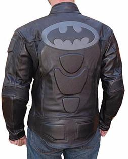 Bat Motorcycle Leather Racing Riding Jacket With GP Armor