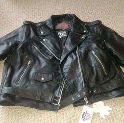 Biker Jacket Men's Leather 4XL new with tags Nomad USA