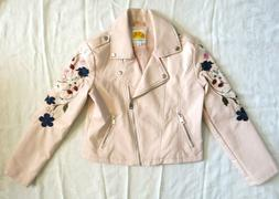 C&C California Girls Pink Faux Leather Embroidered motorcycl