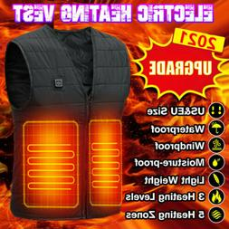 Electric Heated Vest USB Heating Jacket Winter Thermal Body