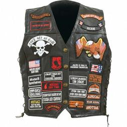Diamond Plate Features multiple patches, black snaps and lac