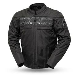 Motorcycle Jacket With Skulls Made By MFG