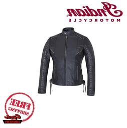 Xs-5xl Classyak Motorcycle Leather Jacket Perforated Panels /& Protection