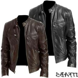 Hot Men's Winter Warm Leather Jacket Motorcycle Jacket Fashi