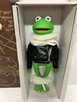 """Tonner Kermit """"Wild Frogs"""" green dressed with motorcycle jac"""