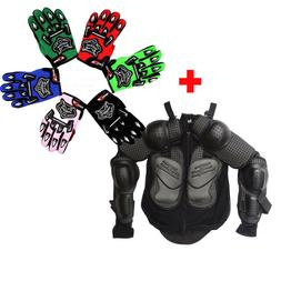Kids Children Youth Motorcycle Body Armour Jacket Armor Glov