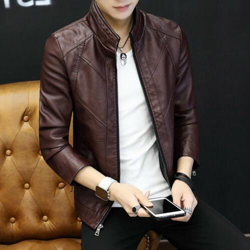 Casual men's leather trend young motorcycle jacket