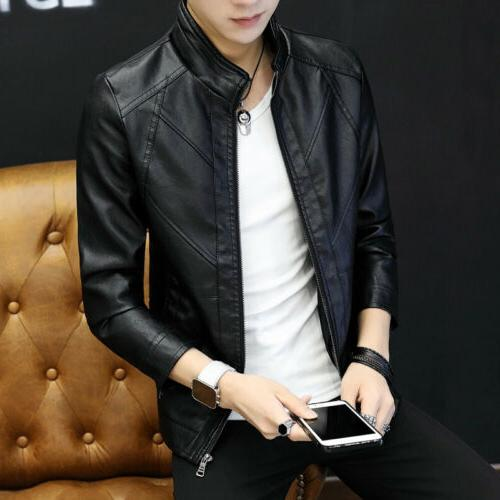 casual men s leather jacket trend young