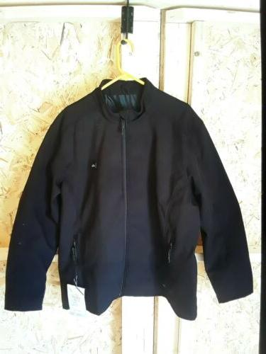 leather heated motorcycle coat with heater