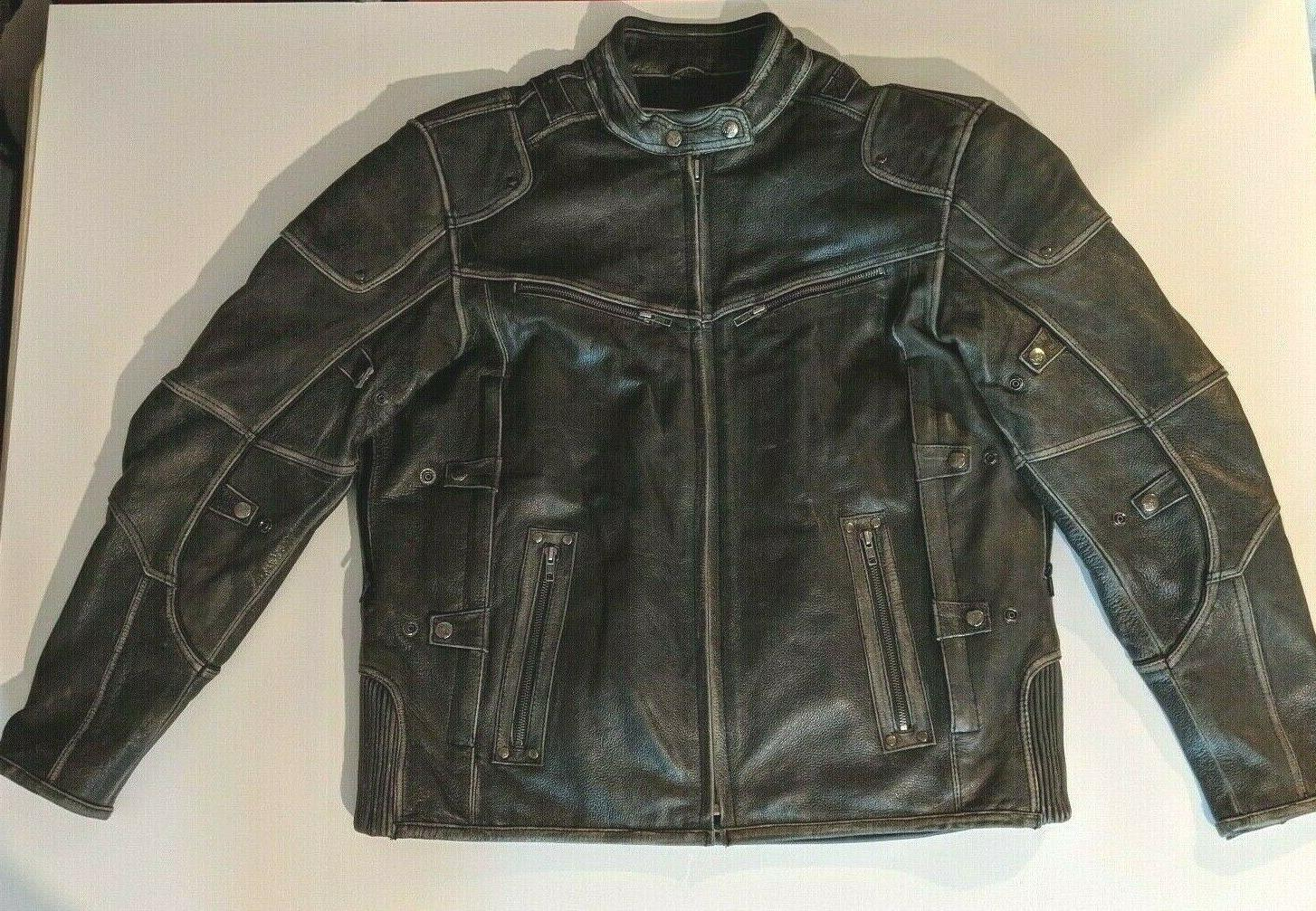 leather men s motorcycle distressed triple vented