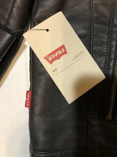 Levi's Brown Leather Jacket Size xl