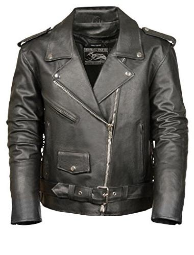men s basic motorcycle jacket with pockets