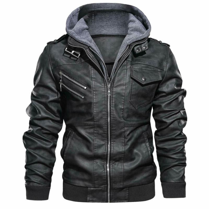 men s faux leather motorcycle jacket