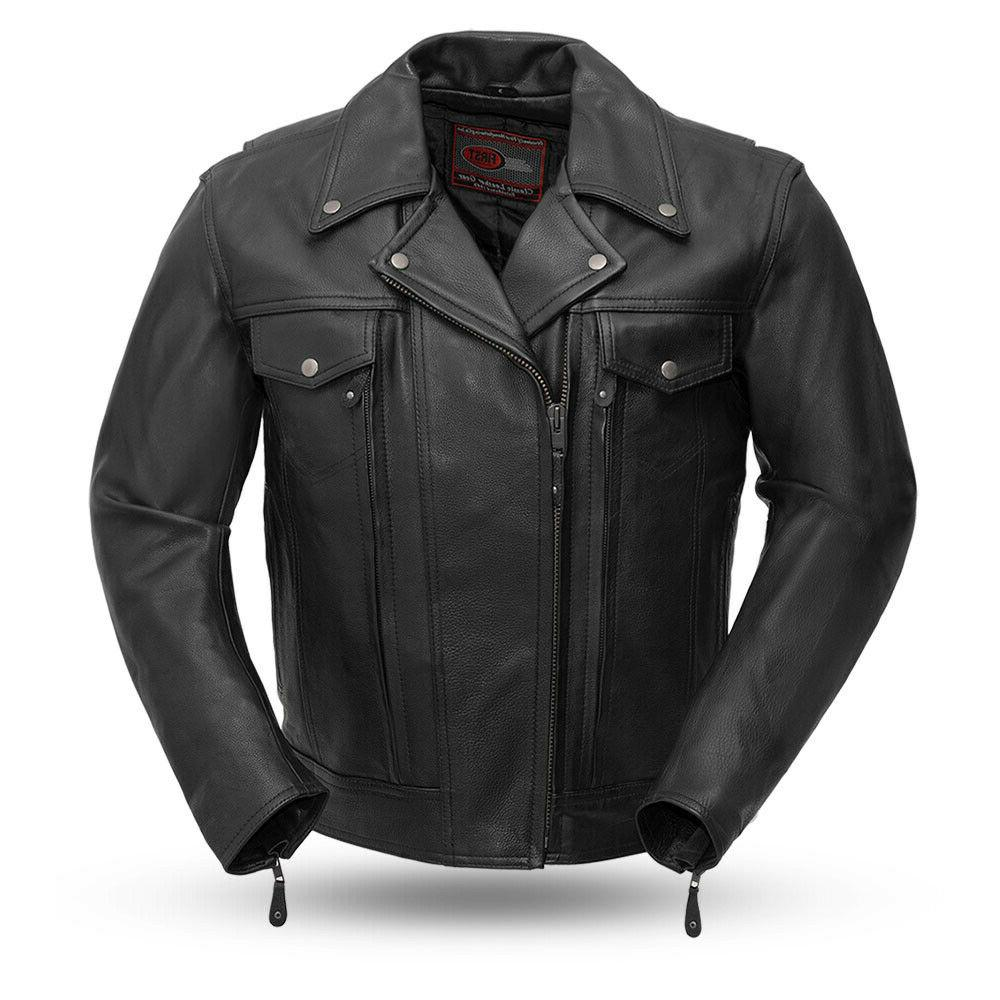 men s mastermind tall leather motorcycle jacket