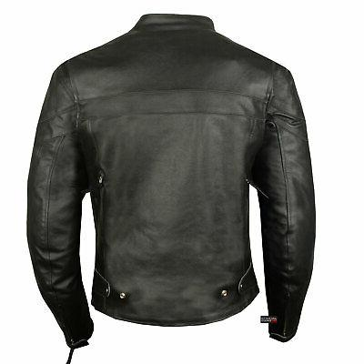 Men Classic Motorcycle Cruiser Armor Jacket