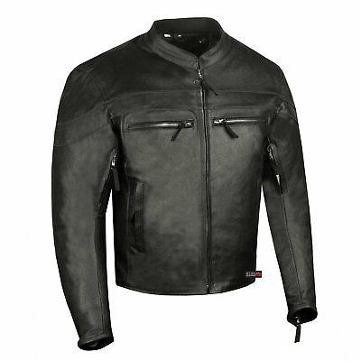 men s throttle premium leather motorcycle street