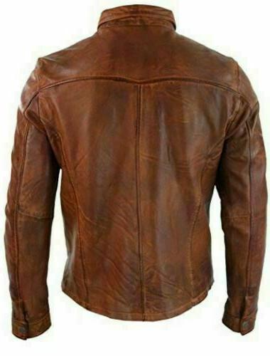 Men's Style Vintage Real Leather Jacket