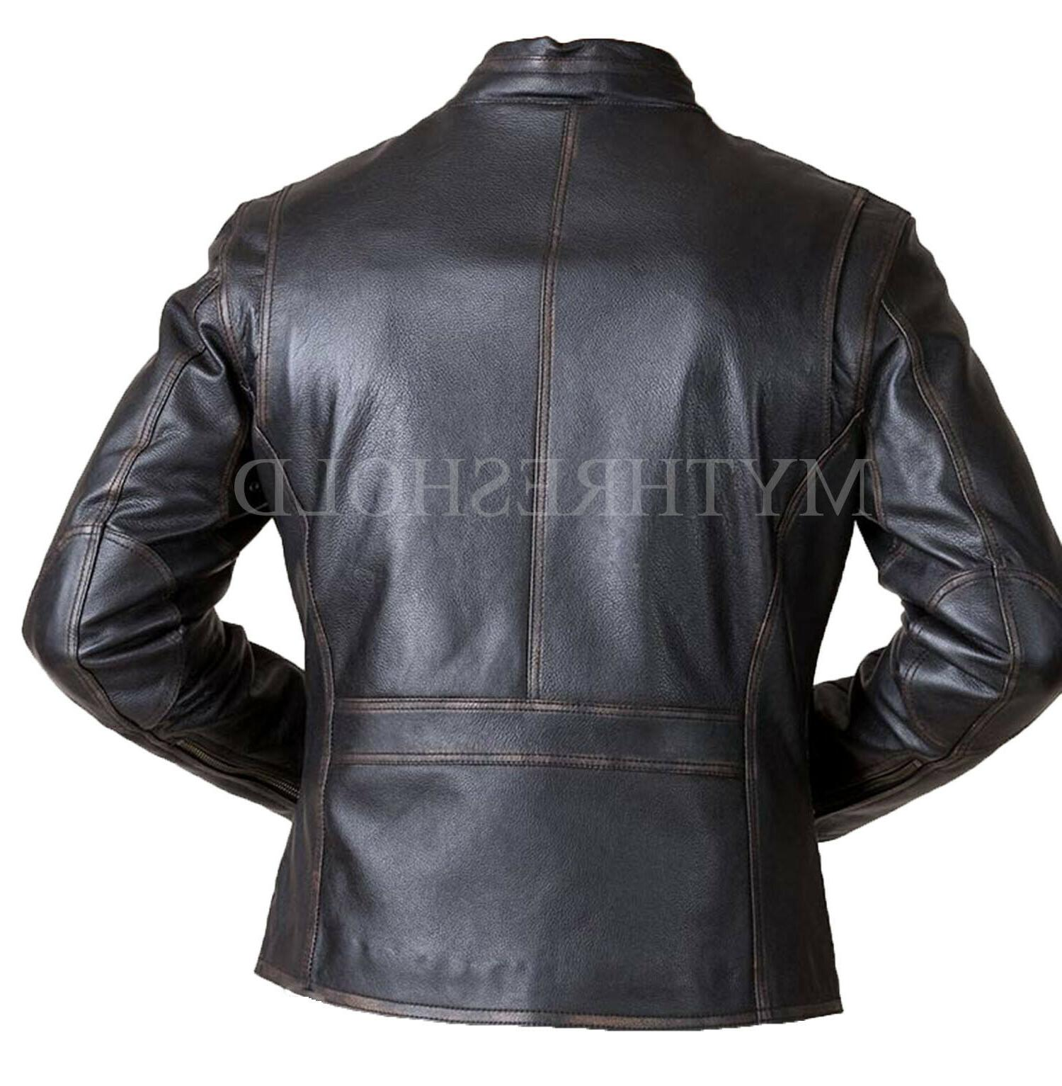 Racer Black Real Leather