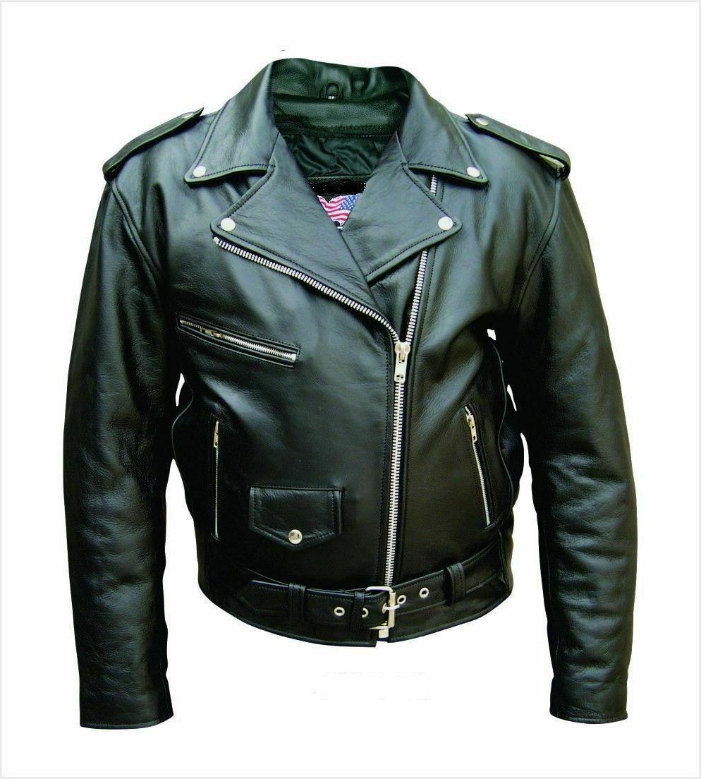 mens leather motorcycle biker scooter racing belted