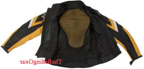 Small Real Leather Padded Armor Racer