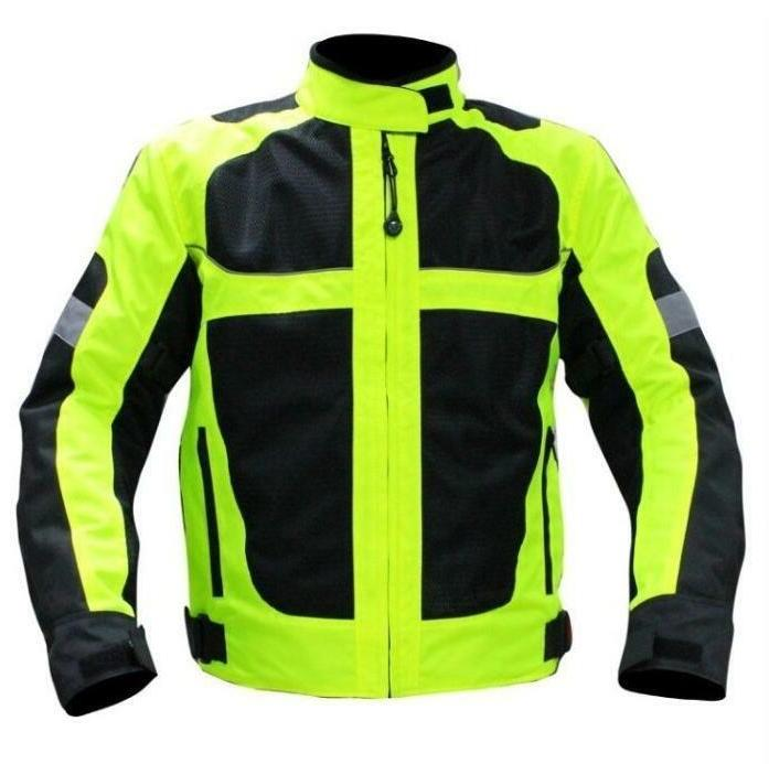 Mens Motorcycle Motocross Racing Jacket Reflective Safety Pr