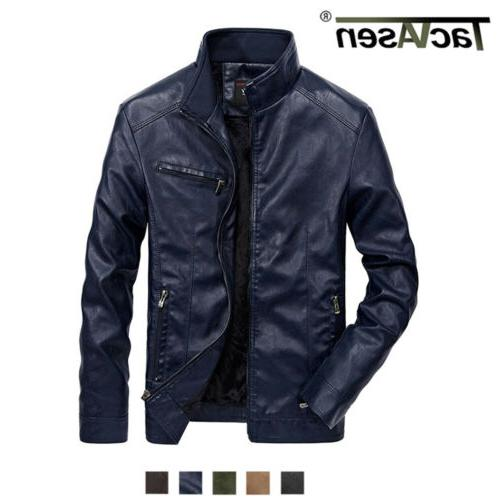 mens pu leather motorcycle jackets army cargo