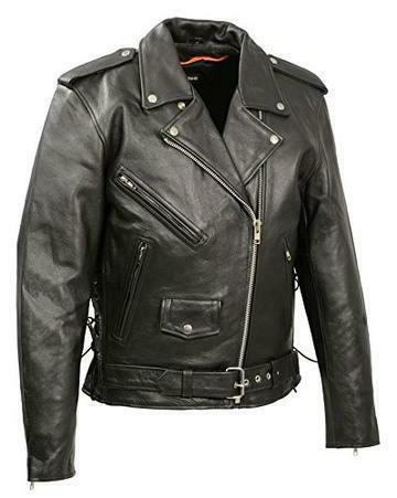 mens side lace police style premium cowhide