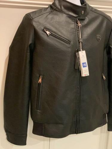 BV Mens Small Jacket Zipper Lined Motorcycle