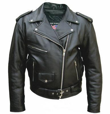 mens tall size 66 buffalo leather motorcycle