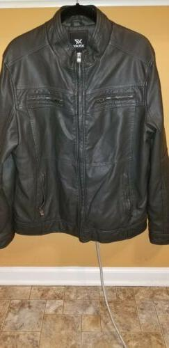 Men's X-Ray Jeans Gray Bomber Motorcycle Jacket Faux Leath