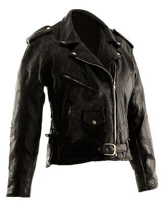 new leather mens motorcycle vintage black clothing