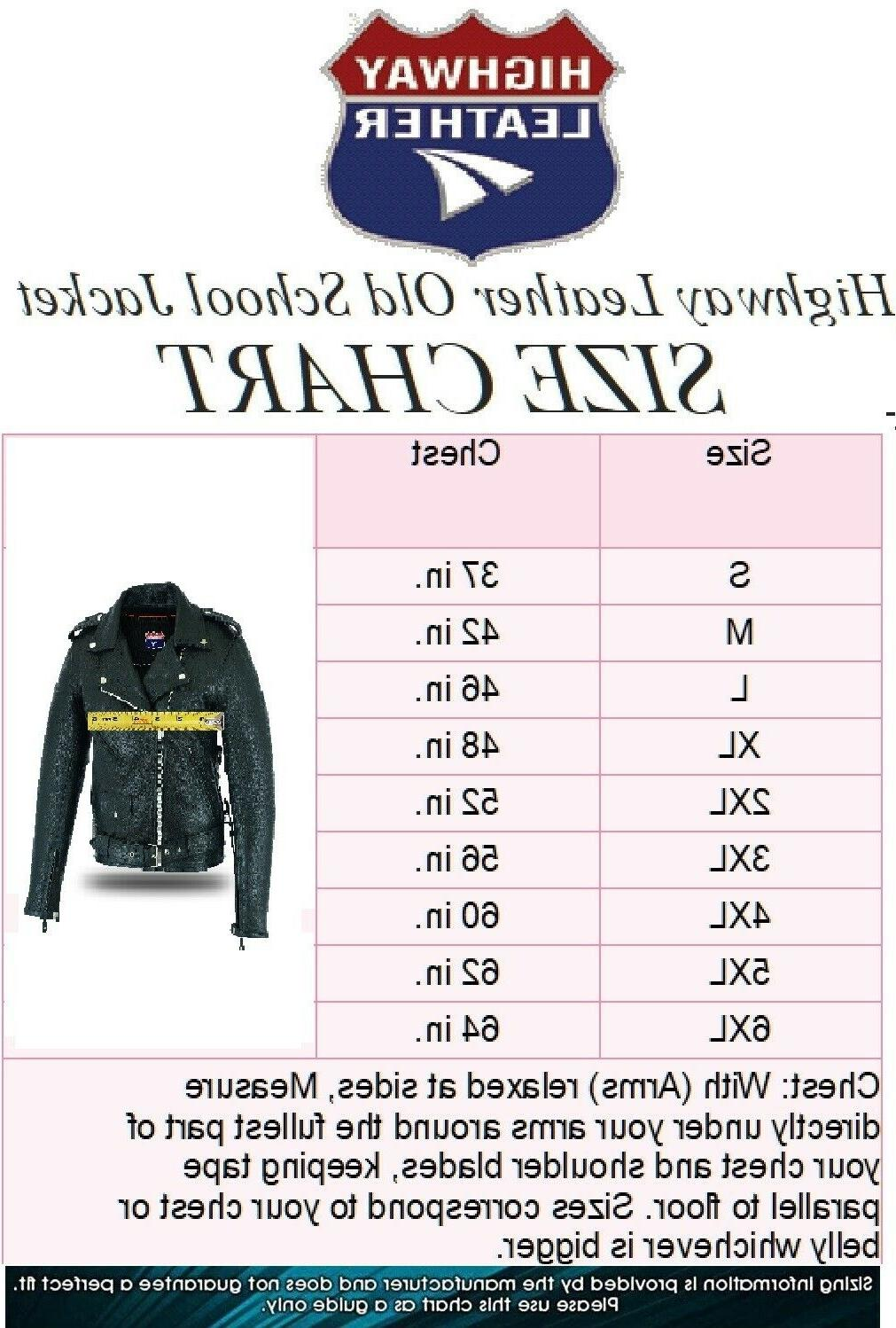 Highway Leather Old Police Style Motorcycle Jacket