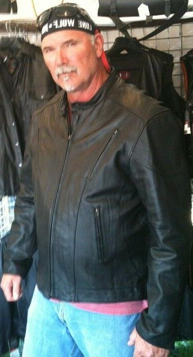 Tall racer leather motorcycle & Tall w action