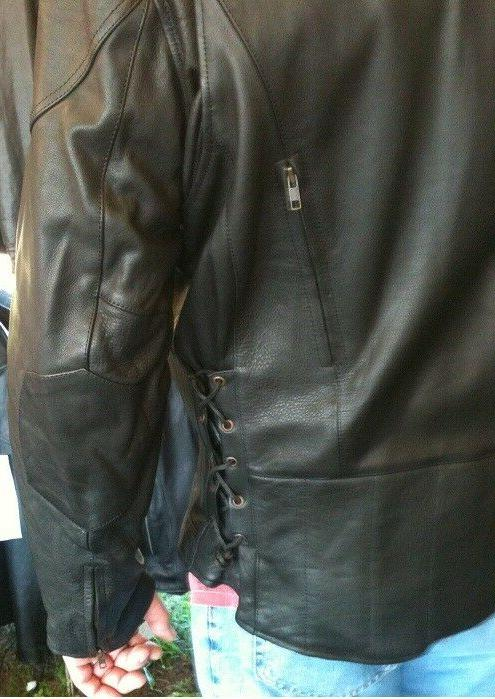 Tall vented motorcycle jacket Big & Tall full action