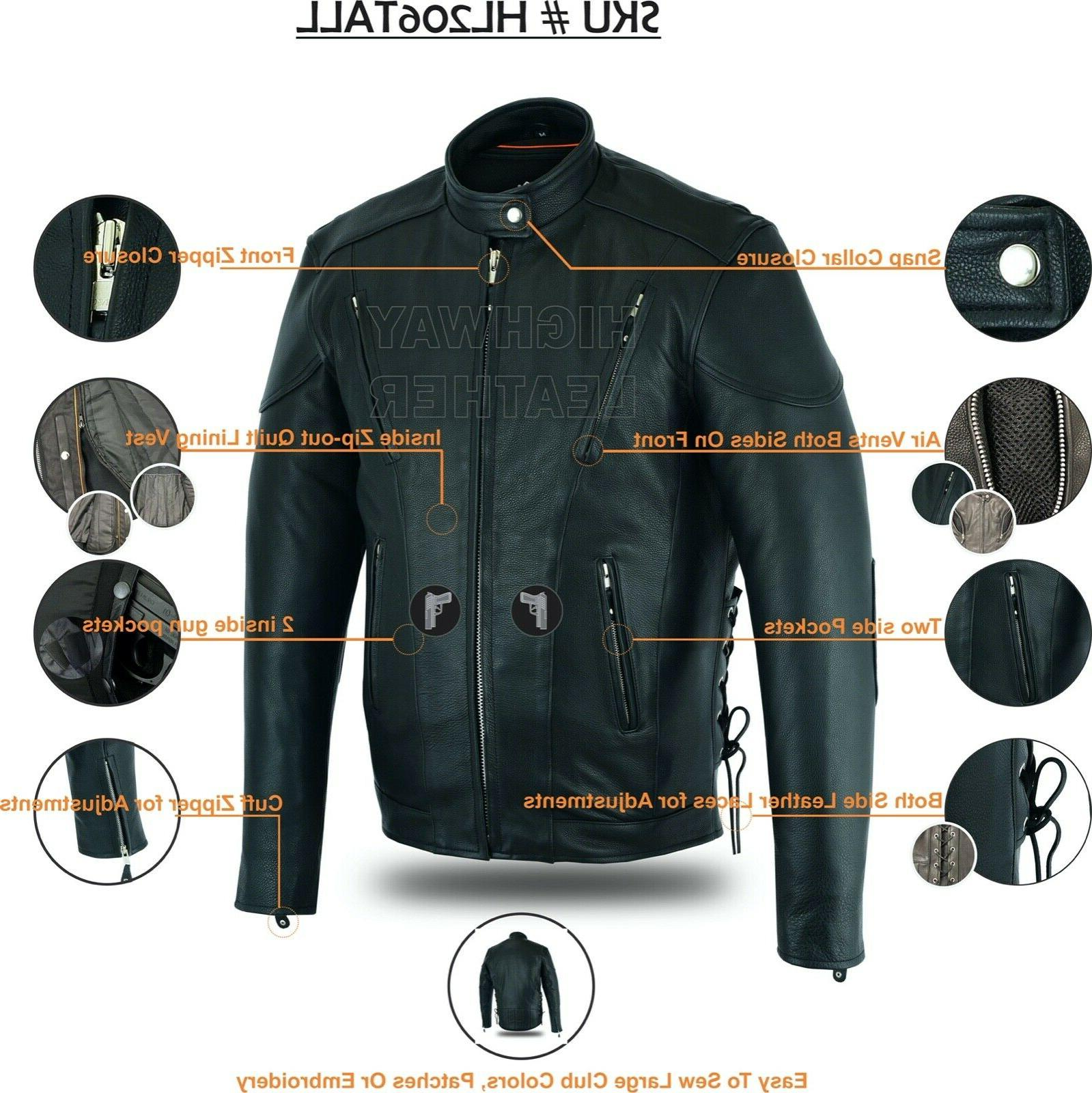 Tall racer motorcycle jacket & Tall action back