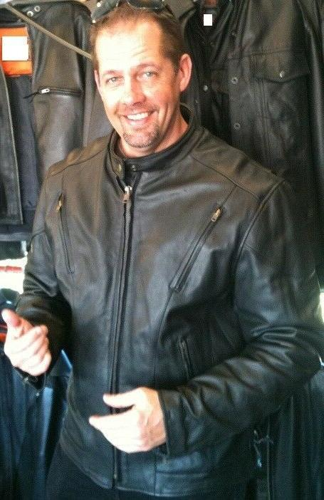 tall vented racer leather motorcycle jacket big
