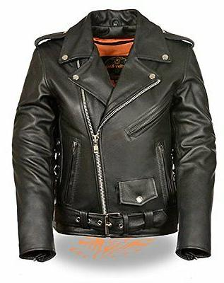 women classic side lace police style motorcycle