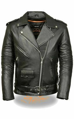 Milwaukee Leather Men's Classic Police Style Motorcycle Jack
