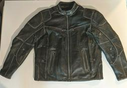 Milwaukee Leather Men's Motorcycle Distressed Triple Vented