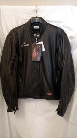 "Leather Motorcycle Jacket ""Orange County Choppers"""
