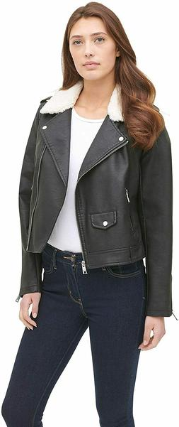 Levi's Belted Assymetrical Motorcycle Jacket Black Size XS N