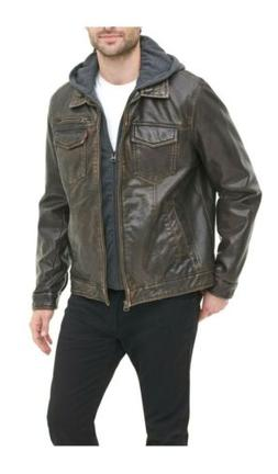 Levi's Heavy Faux Leather Mid-weight Motorcycle Jacket with
