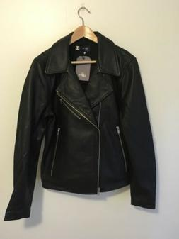 Levi's Made & Crafted Black Leather Jacket Size 3/ Med Made