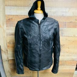 3XL Womans Milwaukee Leather Motorcycle Jacket Hoody Hands F